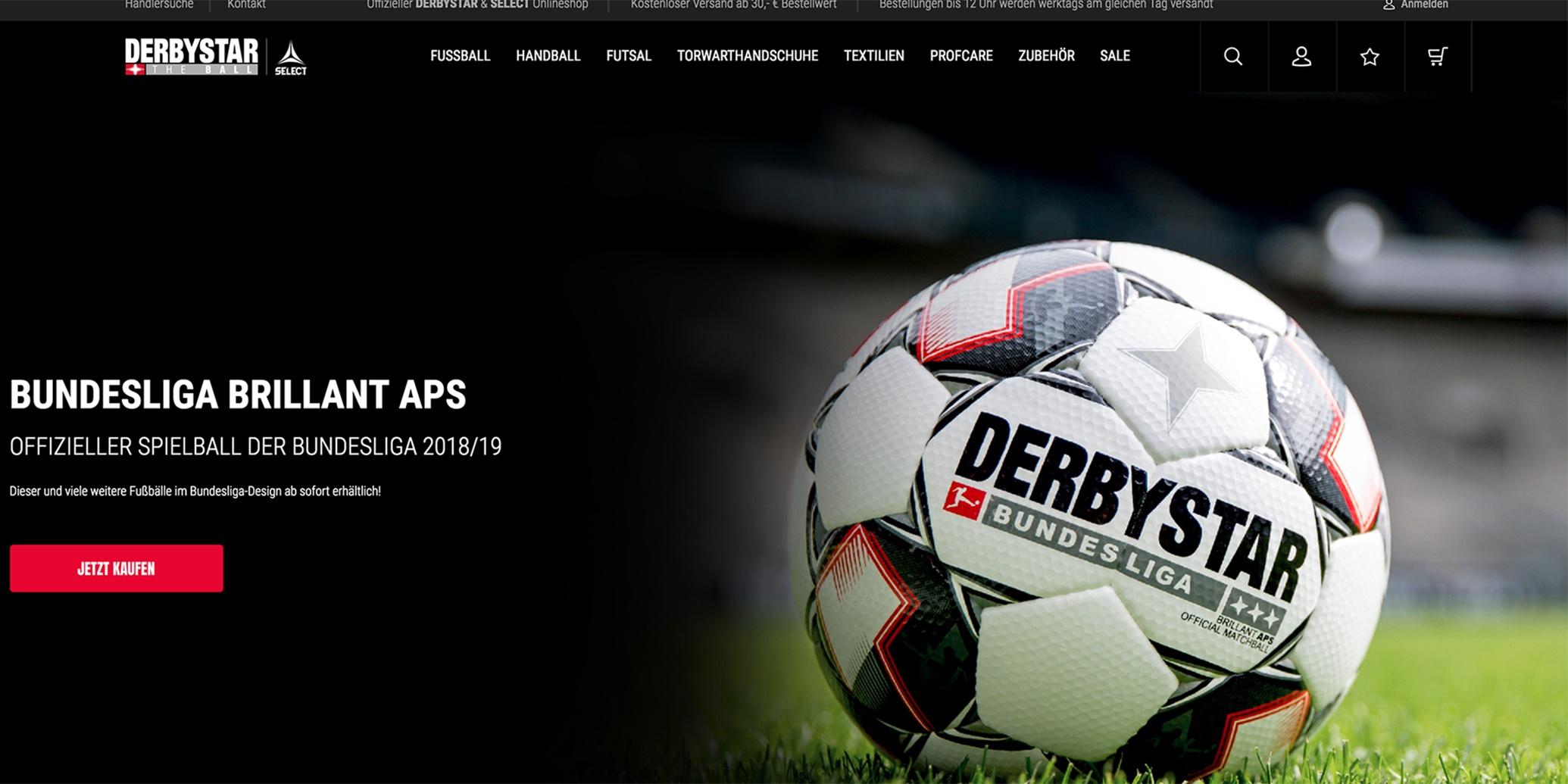 Creativestyle ermöglicht Sportfans Direktbestellungen im neuen Derbystar-Shop